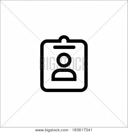 Isolated On White Background.assignment Ind Icon.