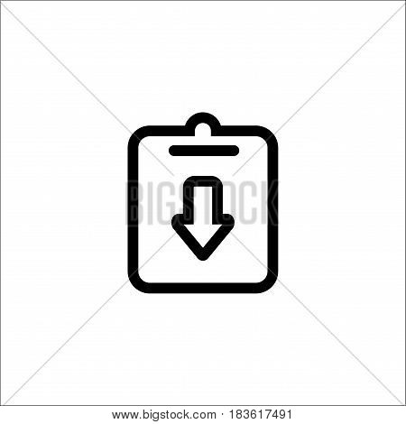 Isolated On White Background. Assignment, Deadline, Incomplete Icon Vector Image. Can Also Be Used F