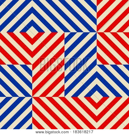 Seamless abstract pattern in constructivism soviet style. Vector vintage 20s geometric ornament.