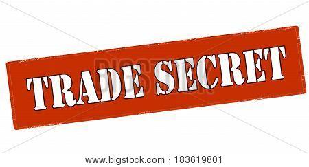 Stamp with text trade secret inside vector illustration
