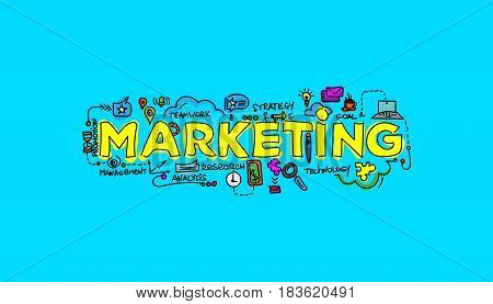 Marketing Technology Concept. Local Search Marketing Vector Illu