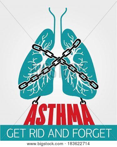 Banner  Asthma Chain-bound