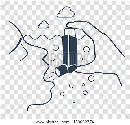 Icon  Bronchial Asthma  Black
