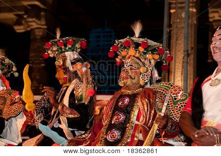 CHENNAI - JAN 21: Dancers perform at the traditional folk event called Mylapore Festival , Jan 21, 2010 in Chennai, India