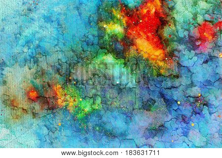 abstract background. Color background with spots and crackle