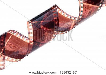 Film strip roll isolated on white background.