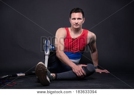 Man Athlete Sportsman, Prosthetic Leg