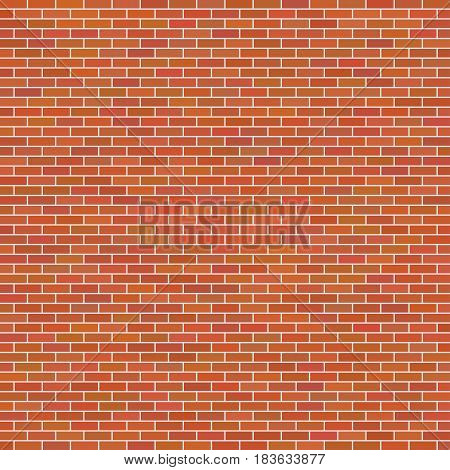 Brown brick wall background. Wall from brick, vector