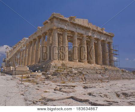 The Parthenon in Athens Greece a historic landmark