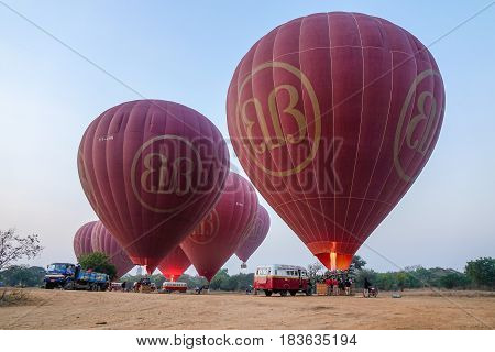 Hot Air Balloons Ready To Flying