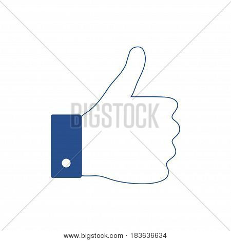 Flat hand like icon. Thumb up, thumb down applique vector illustration