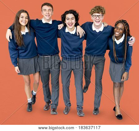 Group of students are together