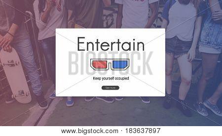 3D Glasses Movie Media Entertainment