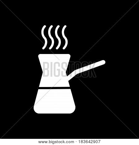 Coffee turk vector icon isolated on black background. Coffee turk icon. Coffee turk icon for infographic, website or app. eps 10