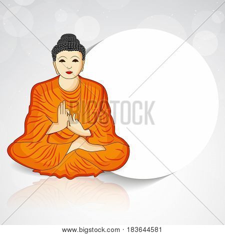 Illustration of Lord Buddha for Buddha Purnima