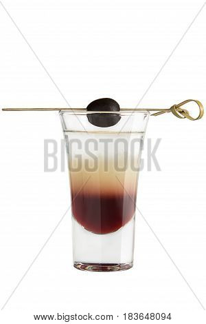 Shot. Alcoholic Drink On A White Background