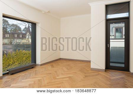 Interior of new modern empty living room