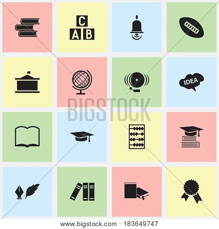 Set Of 16 Editable University Icons. Includes Symbols Such As Arithmetic, Victory Medallion, Mind And More. Can Be Used For Web, Mobile, UI And Infographic Design.