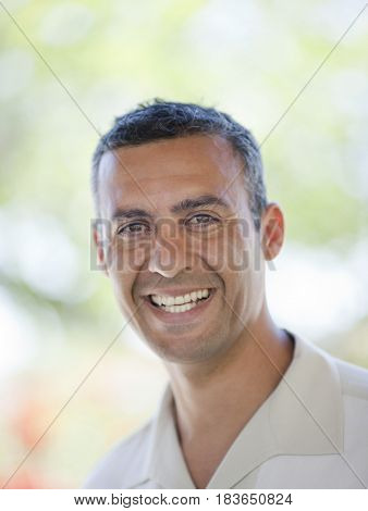 Smiling Hispanic man