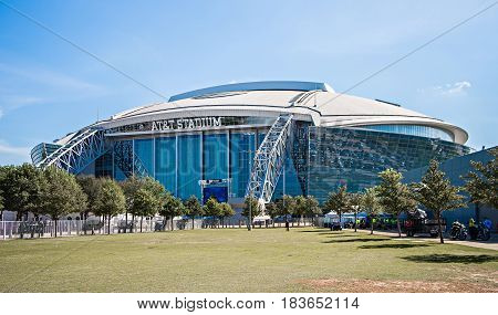 April 2017 Arlington Texas - AT&T NFLcowboys football stadium on a sunny day