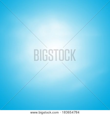 Blue Sky Background Template With Some Space for Input Text Message Below Isolated on Blue