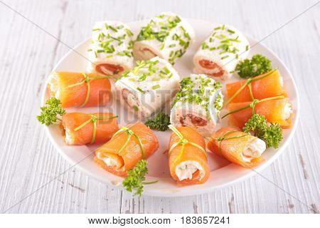 canape,buffet food