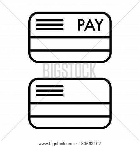 Credit card vector Icon. Payment by card. Eps 10