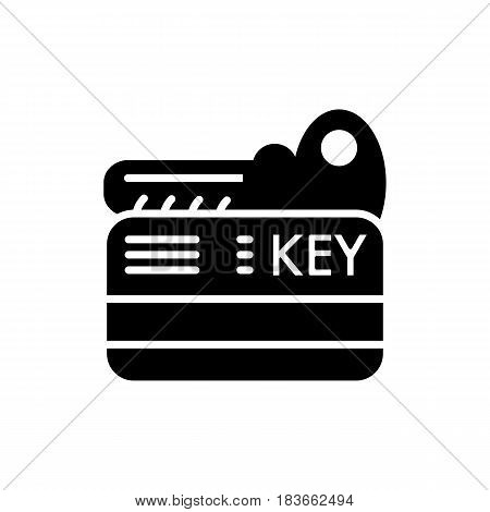 hotel key vector icon. Isolated on white. solid style. eps 10