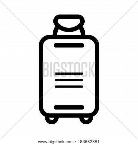Suitcase vector icon. Travel concept isolated. Line design. eps 10