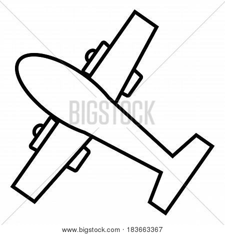 line plane icon on white background. outline vector icon. eps 10