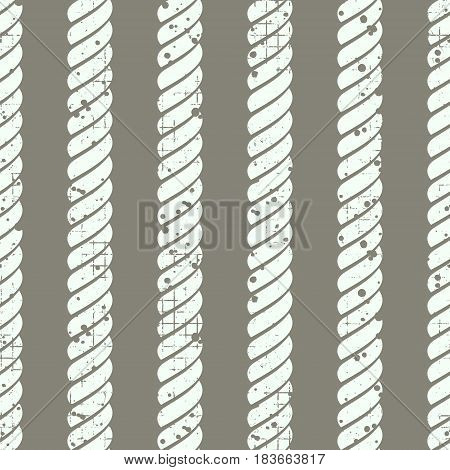 Vector Seamless Pattern With Rope Creative Geometric Vintage Backgrounds, Nautical Theme Graphic Ill
