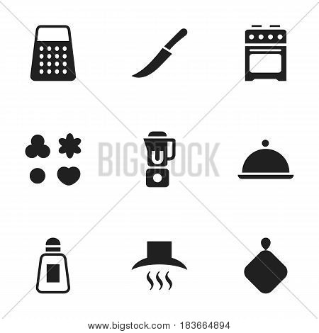Set Of 9 Editable Cooking Icons. Includes Symbols Such As Sword, Shortcake, Salver And More. Can Be Used For Web, Mobile, UI And Infographic Design.