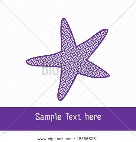 Paper cutting card.Decorative openwork starfish. Can be used for laser or plotter cutting