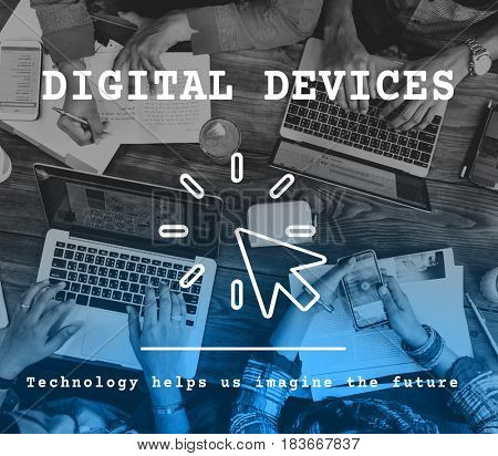 Digital Device Modern Technology Concept
