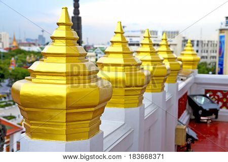 Sky Line    Temple      Bangkok  Thailand Incision Of The Temple