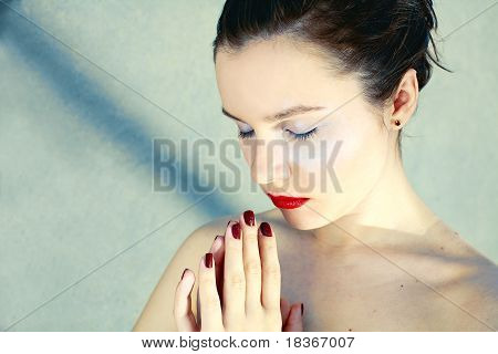 Beautiful Girl Praying