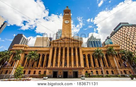 City Hall in Brisbane Australia from King George Square