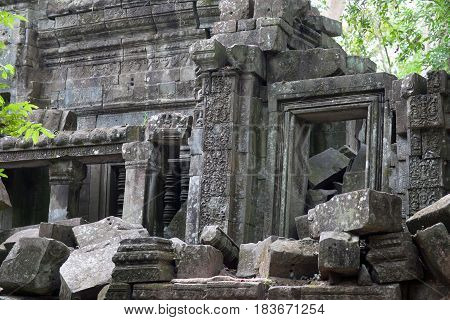Ruins Of Ancient Beng Mealea Temple In Cambodia