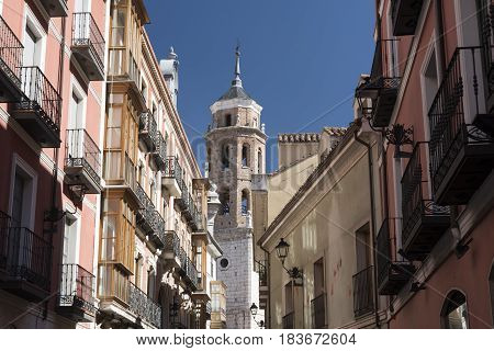 Valladolid (Castilla y Leon Spain): historic buildings with typical balconies and verandas