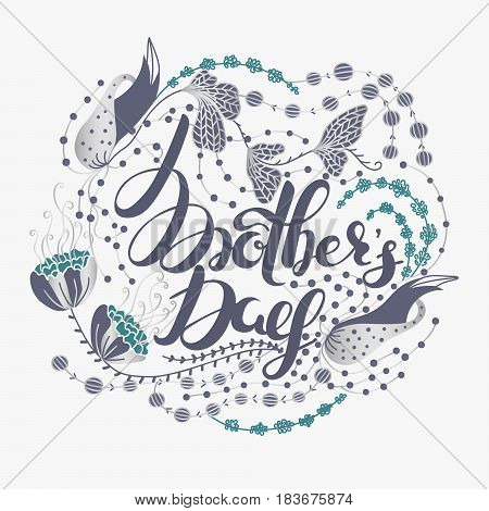 Happy Mother's day. Spring holiday. Congratulatory background with lettering in flowers. Floral design. It can be used for card postcard invitation banner advertising. Vector illustration eps10