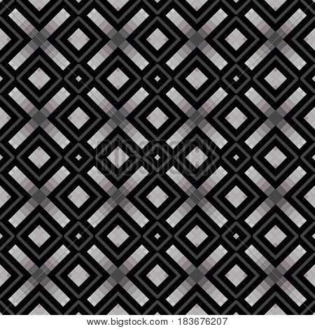Geometric shape Abstract seamless background texture symmetrical pattern shapes lines that form a square shape in black gray tone