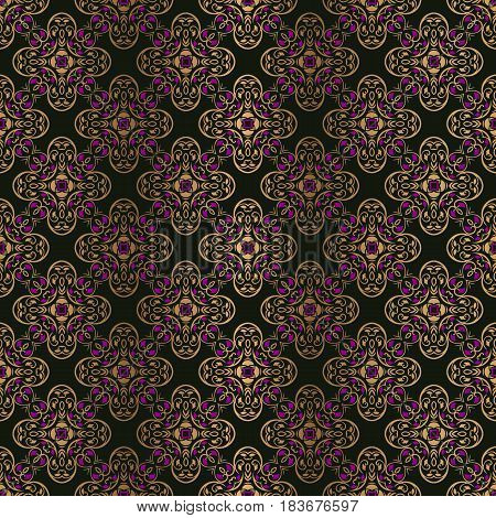 Abstract vintage symmetrical ornate vintage pattern floral design background texture wallpaper tapestry
