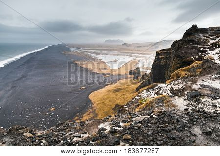 Icelandic Coastal Landscape. Rocky Coast. Iceland