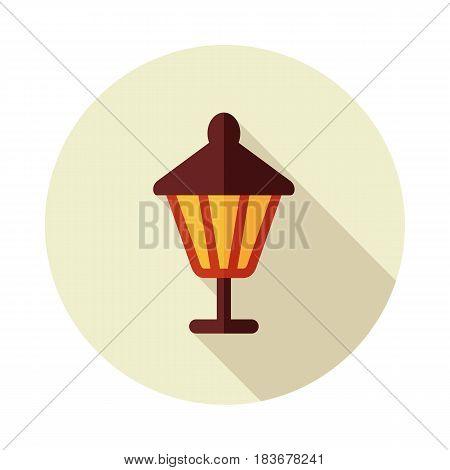 Garden lantern flat vector icon outline isolated garden eps 10