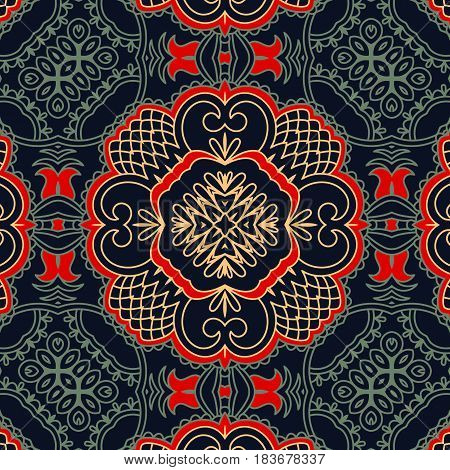 Seamless pattern. Vintage decorative elements. Traditional orient ornament.