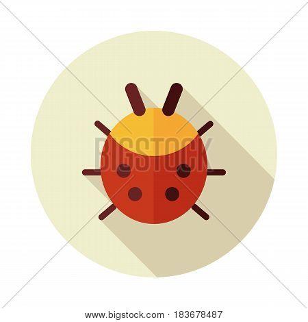 Ladybug flat vector icon outline isolated garden eps 10