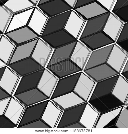 Black and white fresh modern abstrakt y background with cubes . Vector illustration