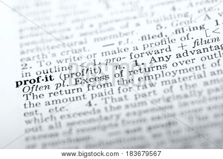 Definition of word profit in dictionary selective focus
