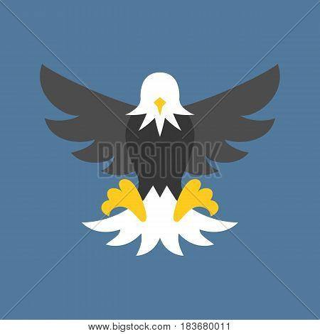Vector eagle icon, eagle symbol, flat design