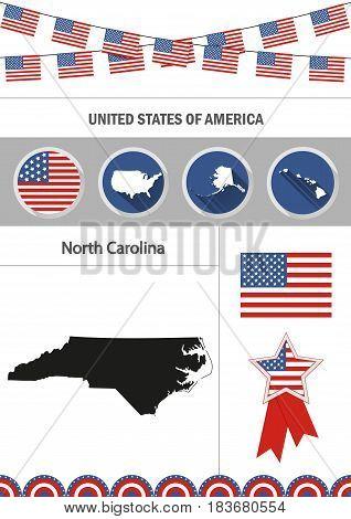 Map North Carolina Vector Photo Free Trial Bigstock